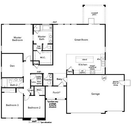 New Homes in Escondido, CA - Residence One, First Floor