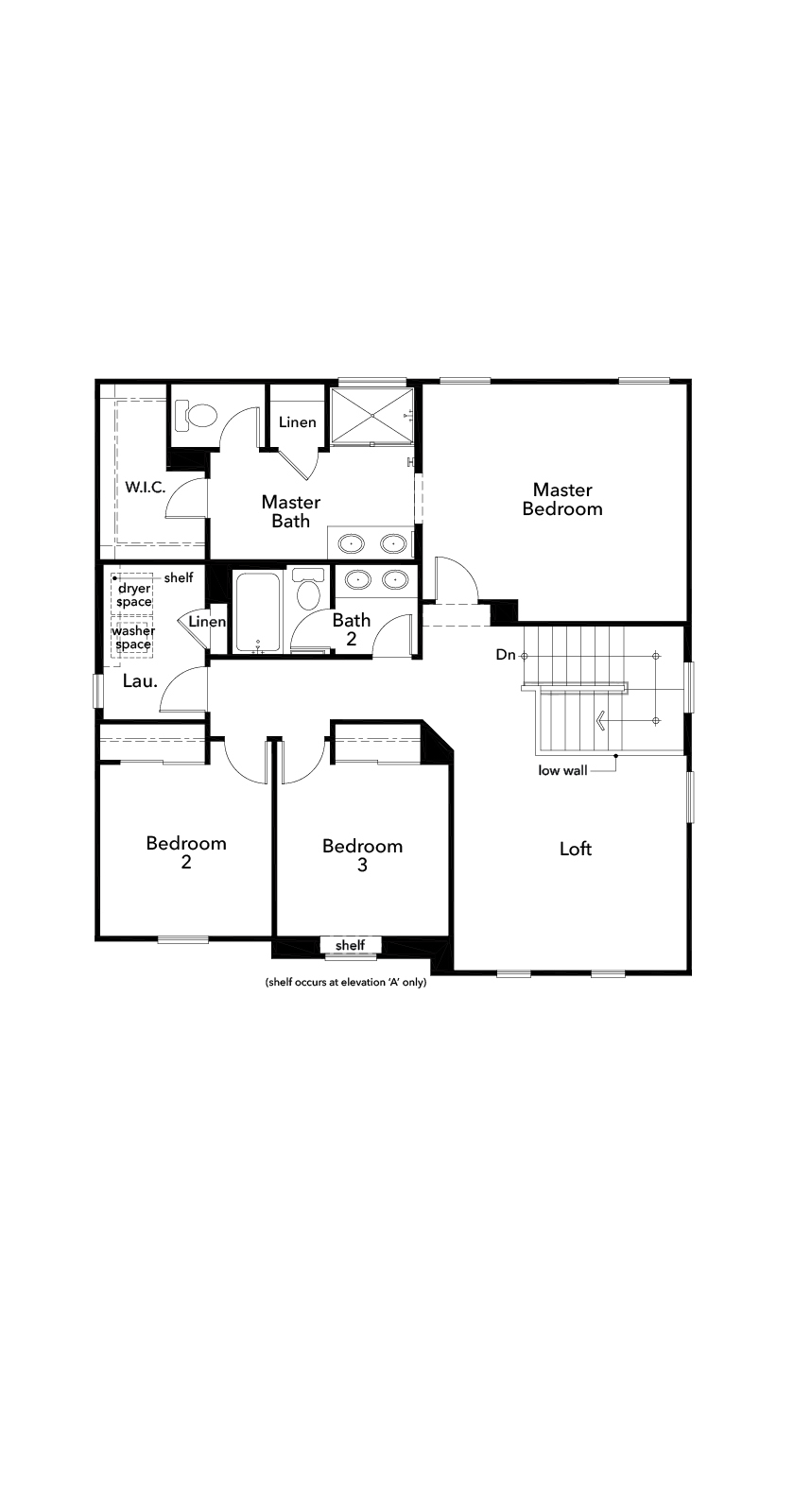 New Homes in Spring Valley, CA - Residence Two, Second Floor
