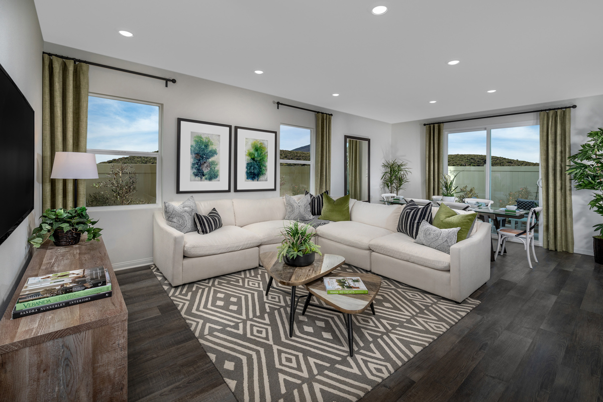 New Homes in Spring Valley, CA - Sweetwater Place Residence One Great Room