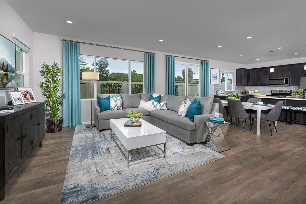 New Homes in Spring Valley, CA - Sweetwater Place Residence Three Great Room