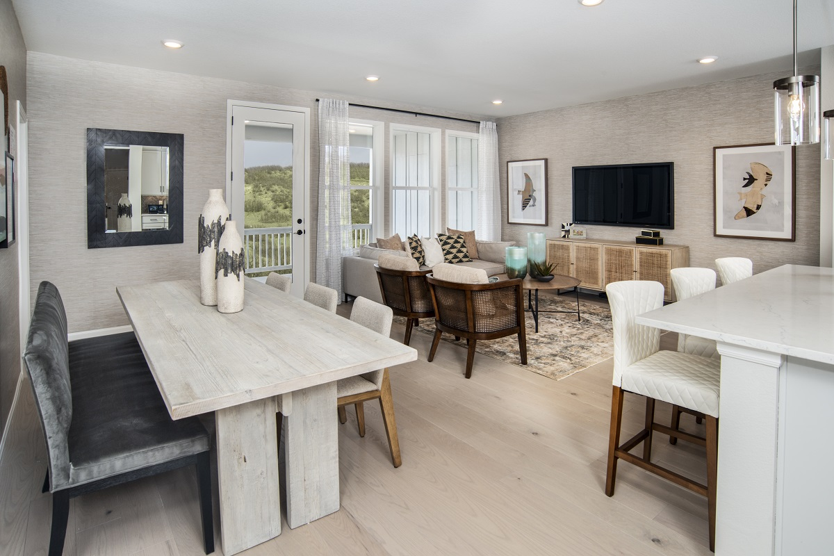 New Homes in Castle Rock, CO - Azure Villas at The Meadows Plan 1632 Great Room