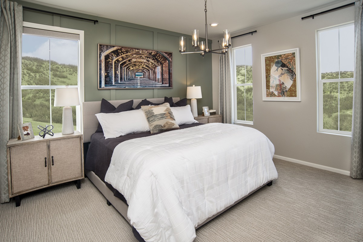 New Homes in Castle Rock, CO - Azure Villas at The Meadows Plan 1632 Master Bedroom
