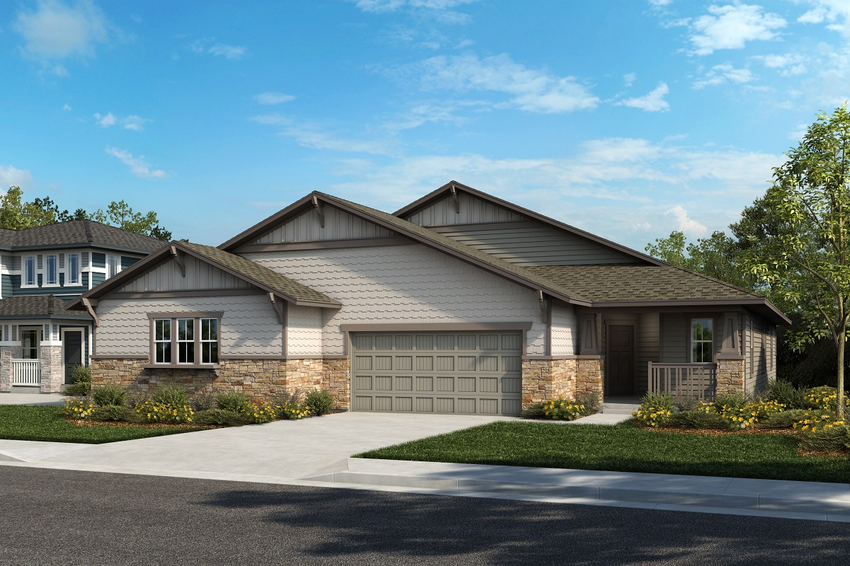 New Homes in Castle Rock, CO - Plan 1738 & Plan 1632 - Elevation 13B