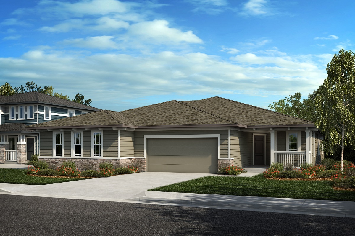 New Homes in Castle Rock, CO - Plan 1738 & Plan 1632 - Elevation 13C