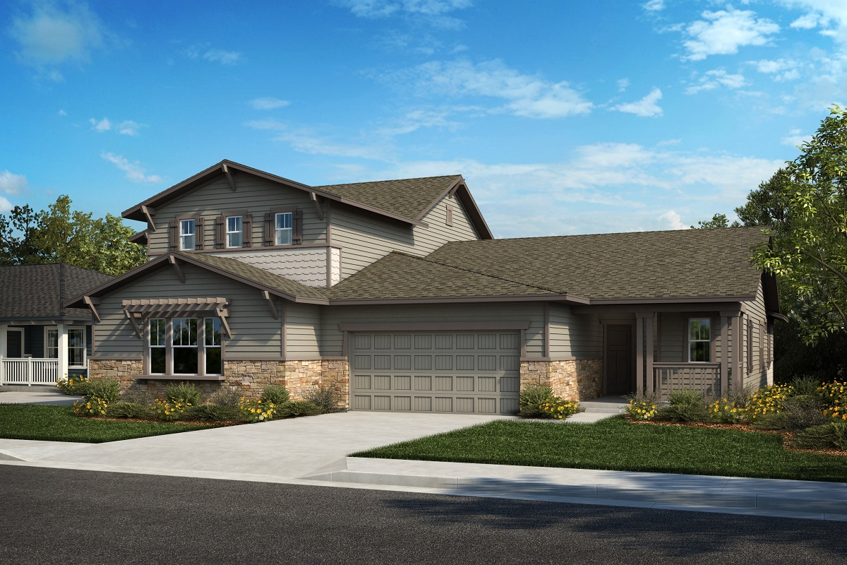 New Homes in Castle Rock, CO - Plan 2025 & Plan 1632 - Elevation 22B