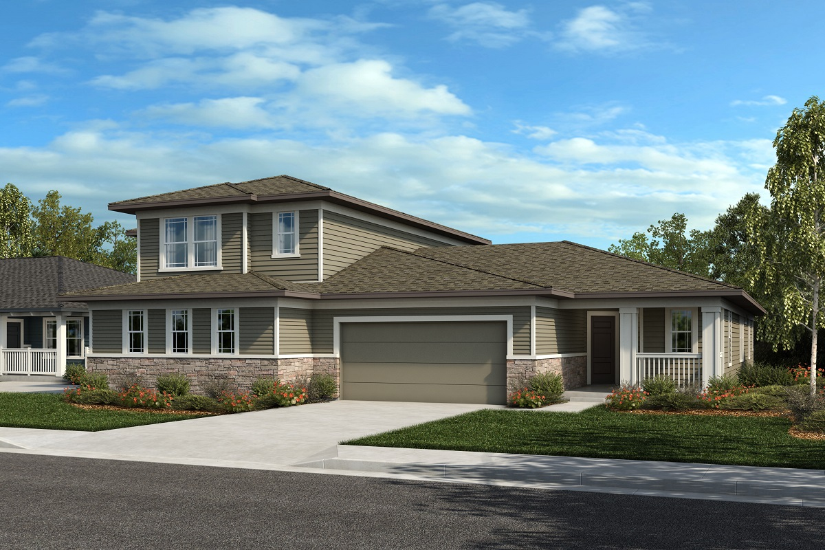 New Homes in Castle Rock, CO - Plan 2025 & Plan 1632 - Elevation 22C