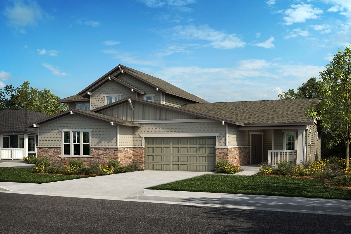 New Homes in Castle Rock, CO - Plan 2343 & Plan 1632 - Elevation 23B