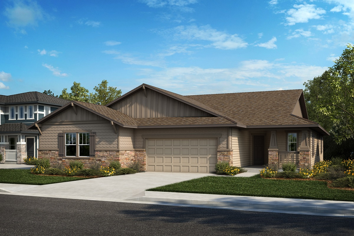 New Homes in Castle Rock, CO - Plan 1774 & Plan 1632 - Elevation 5B