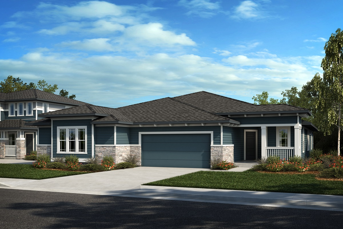 New Homes in Castle Rock, CO - Plan 1774 & Plan 1632 - Elevation 5C