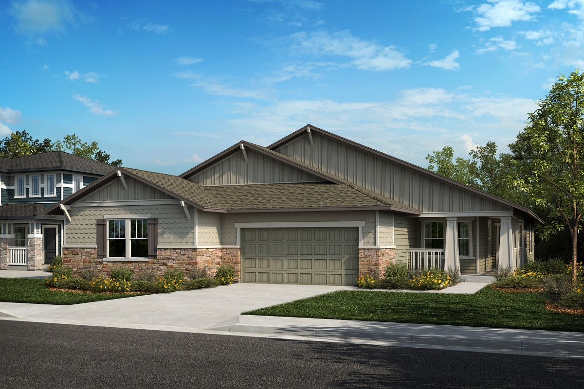 New Homes in Castle Rock, CO - Azure at The Meadows Villas Plan 1652