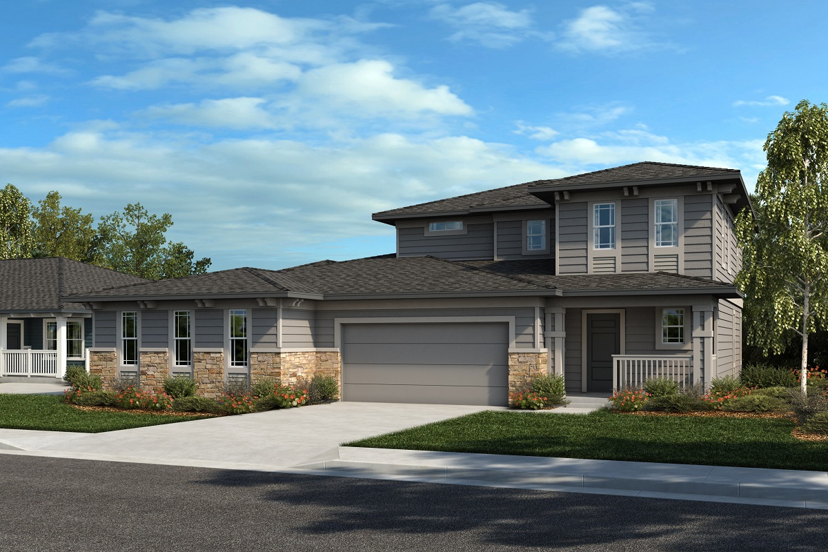 New Homes in Castle Rock, CO - Plan 1774 & Plan 1844 - Elevation 24C