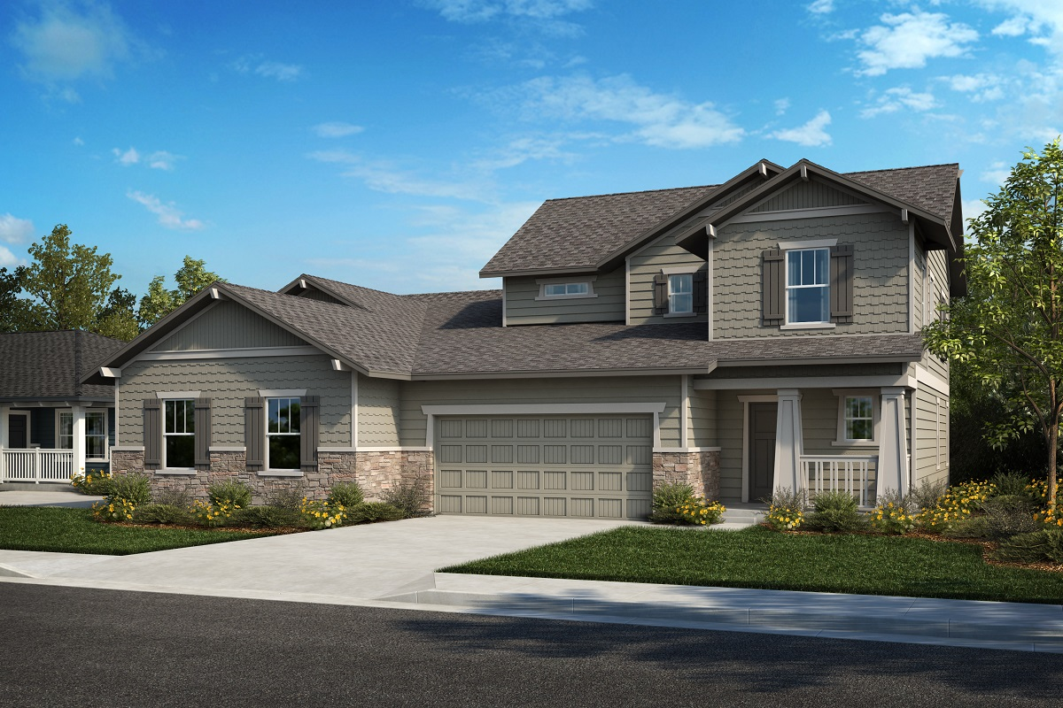 New Homes in Castle Rock, CO - Plan 1738 & Plan 1844 - Elevation 25B