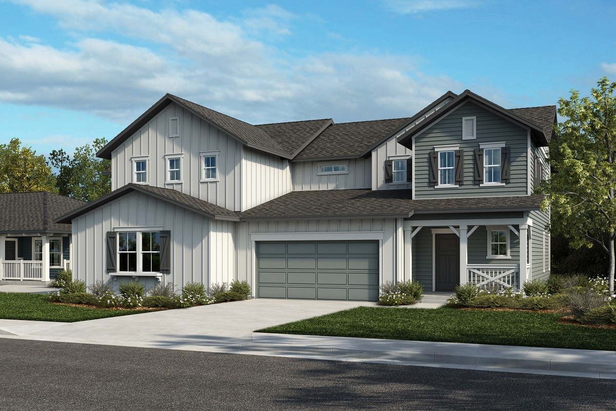 New Homes in Castle Rock, CO - Azure Villas at The Meadows Plan 2025 & Plan 1844 - Elevation 26A