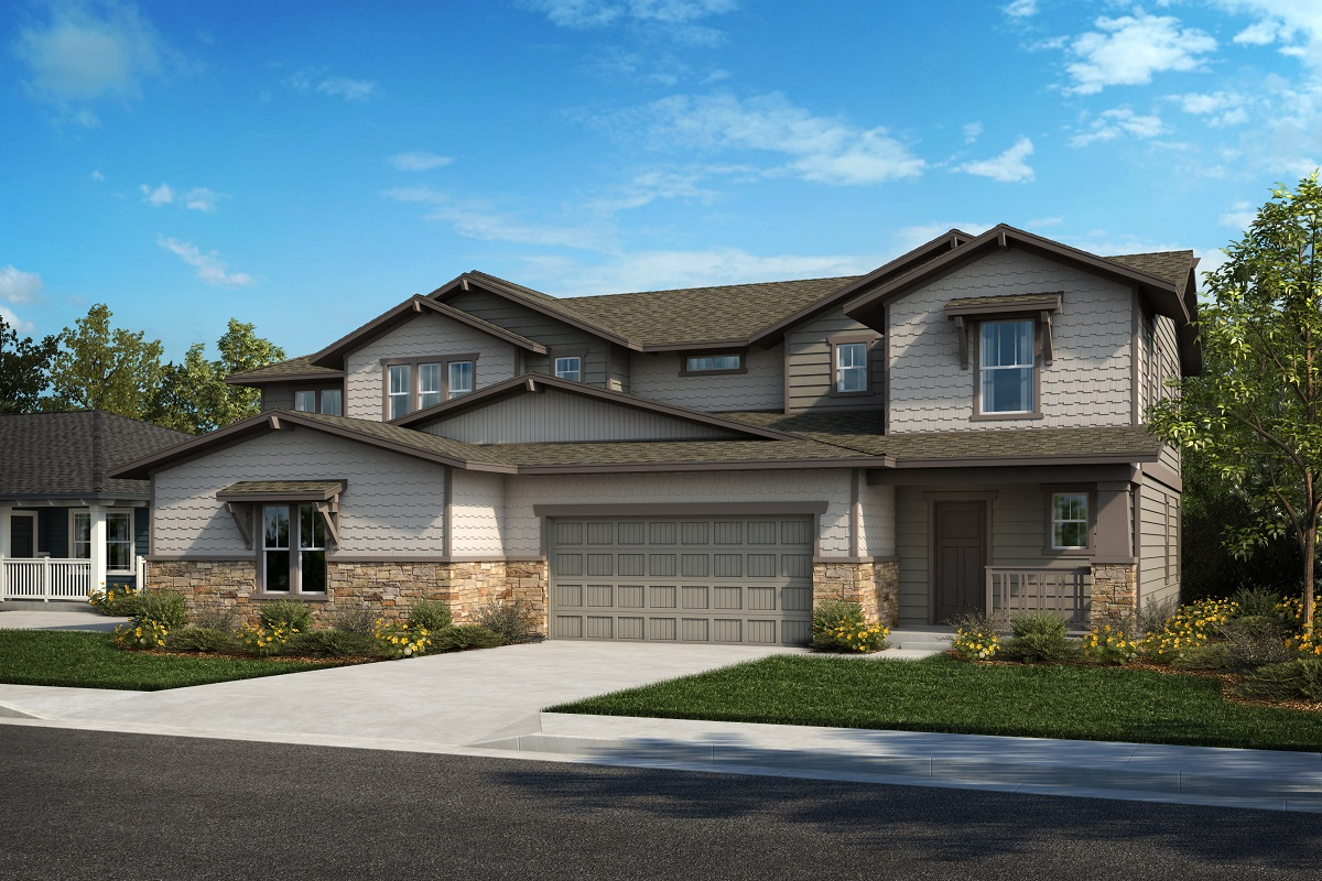 New Homes in Castle Rock, CO - Plan 2343 & Plan 1844 - Elevation 27B