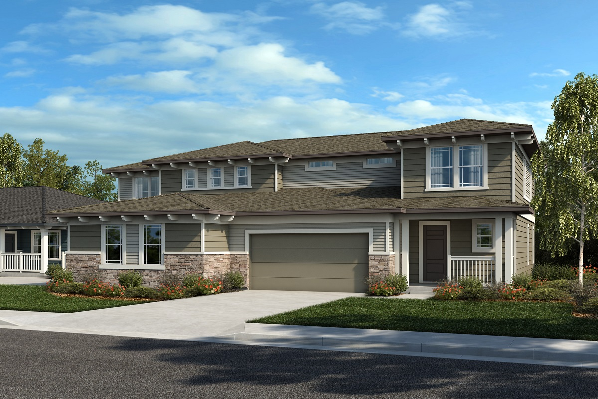 New Homes in Castle Rock, CO - Plan 2343 & Plan 1844 - Elevation 27C
