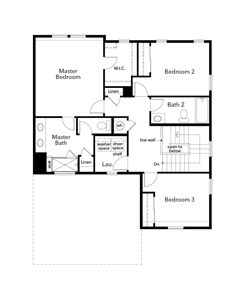 New Homes in Castle Rock, CO - Plan 1844, Second Floor