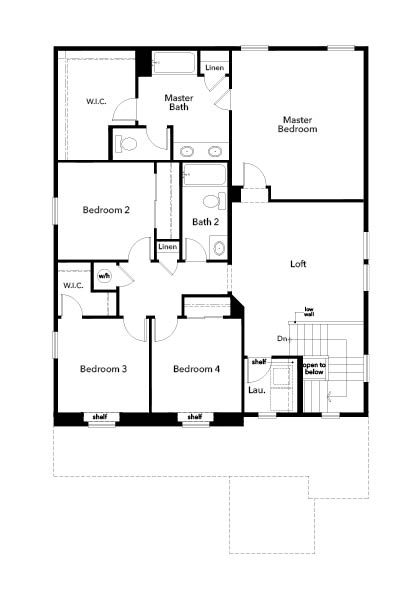 New Homes in Firestone, CO - Plan 2502, Second Floor