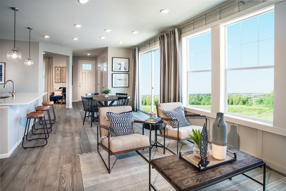 New Homes in Broomfield, CO - Baseline Villas Plan 1754 Great Room