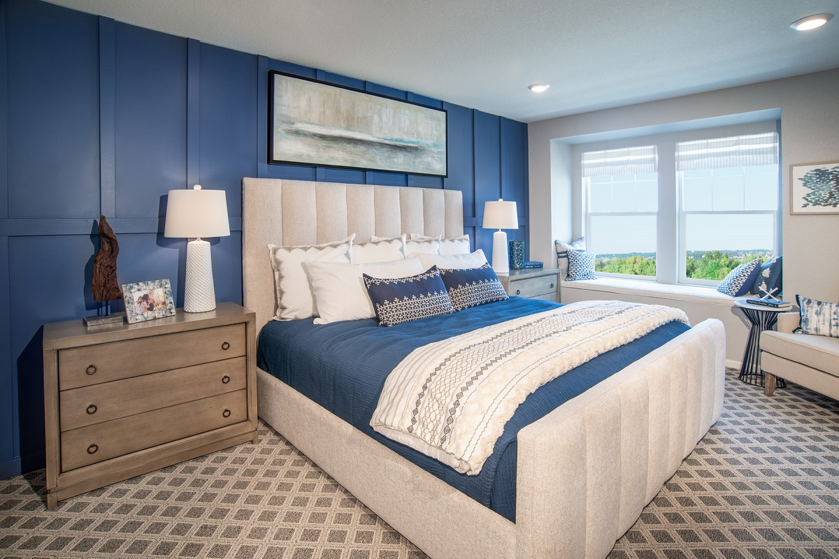 New Homes in Broomfield, CO - Baseline Villas Plan 1754 Master Bedroom