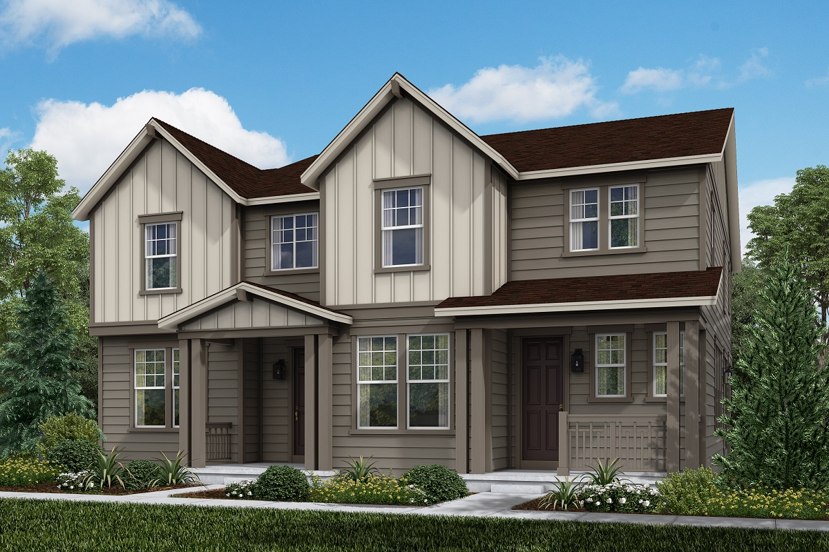 New Homes in Broomfield, CO - Baseline Villas Plan 1885 &  Plan 1430
