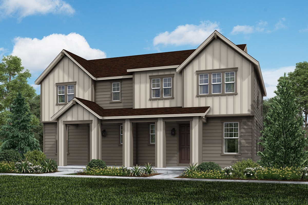 New Homes in Broomfield, CO - Baseline Villas Plan 1963 & Plan 1963