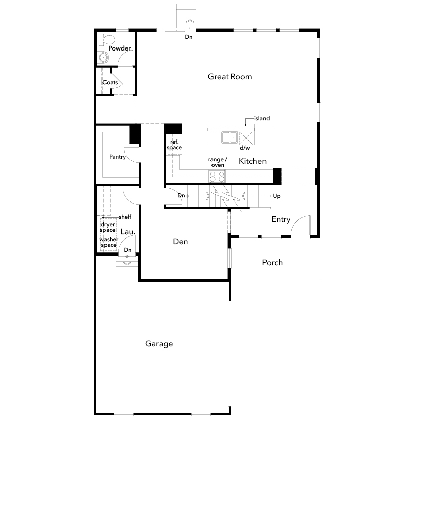 New Homes in Arvada, CO - Plan 2343, First Floor