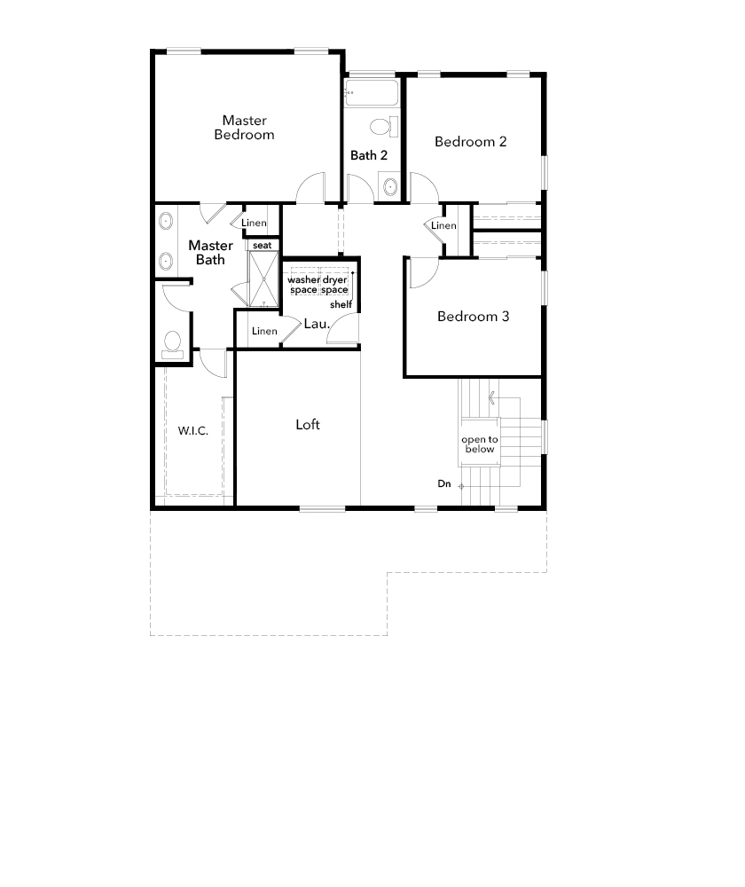 New Homes in Arvada, CO - Plan 2479, Second Floor