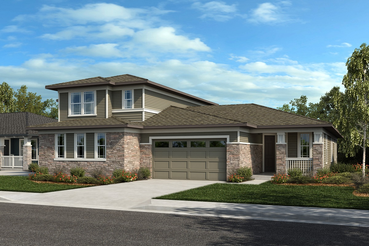 New Homes in Arvada, CO - Plan 2025 & Plan 1632 Elevation 22C
