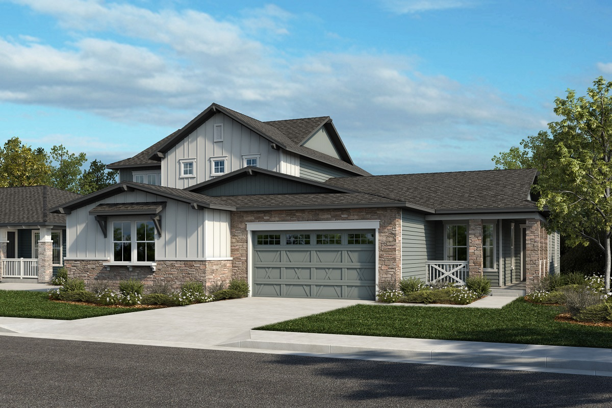 New Homes in Arvada, CO - Plan 2025 & Plan 1652 Elevation 21A