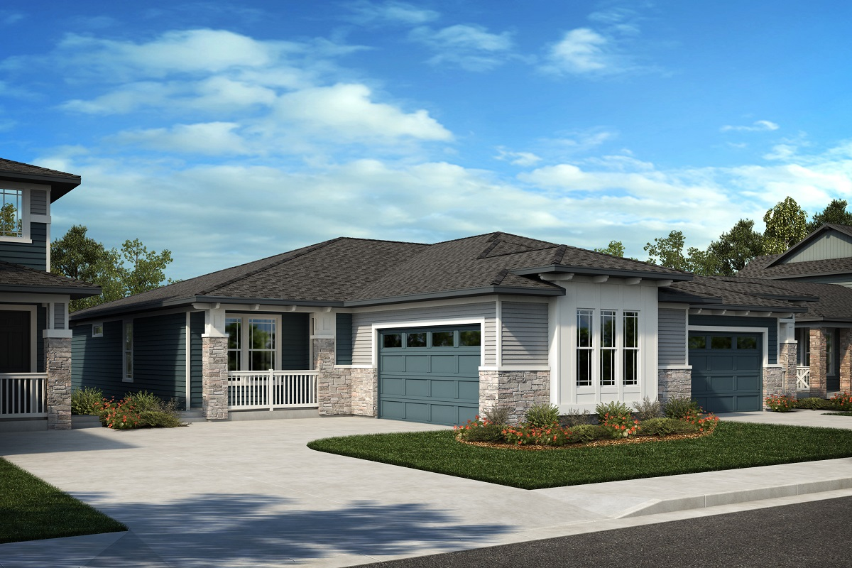 New Homes in Arvada, CO - Candelas Villas Plan 1774 & Plan 1632 Elevation 5C