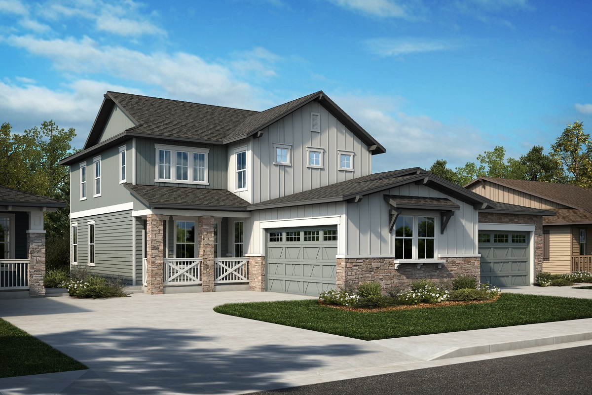 New Homes in Arvada, CO - Plan 2343 & Plan 1652 Elevation 21A