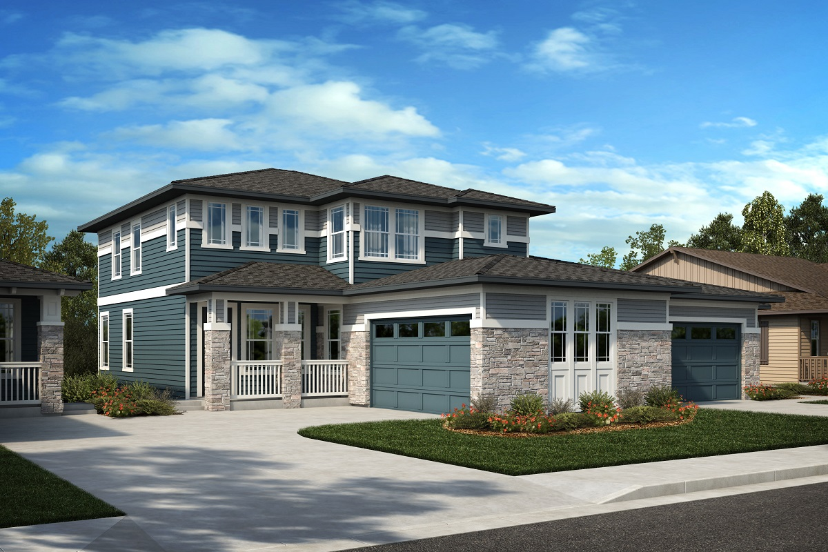 New Homes in Arvada, CO - Candelas Villas Plan 2343 - Elevation 21C
