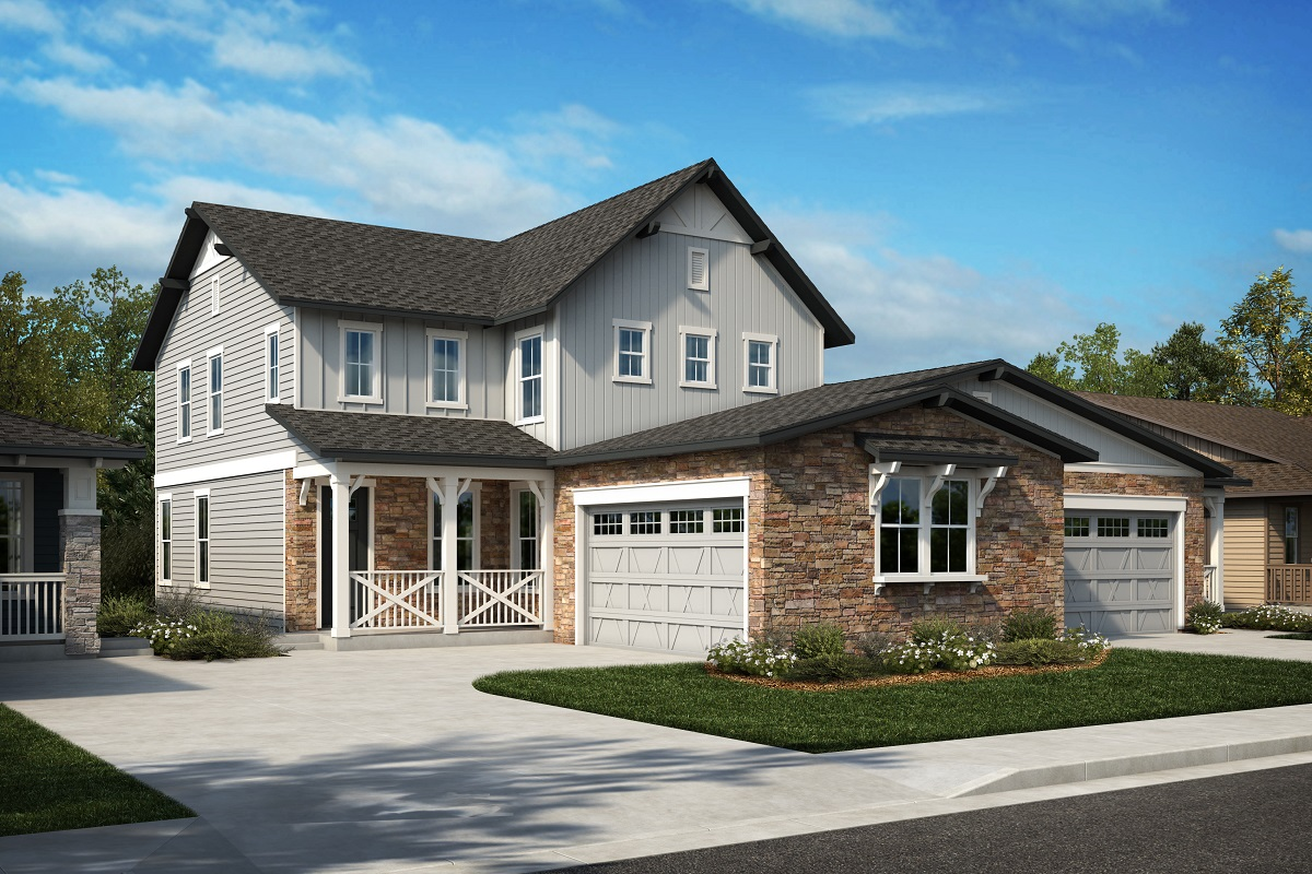 New Homes in Arvada, CO - Plan 2343 & Plan 1632 Elevation 23A