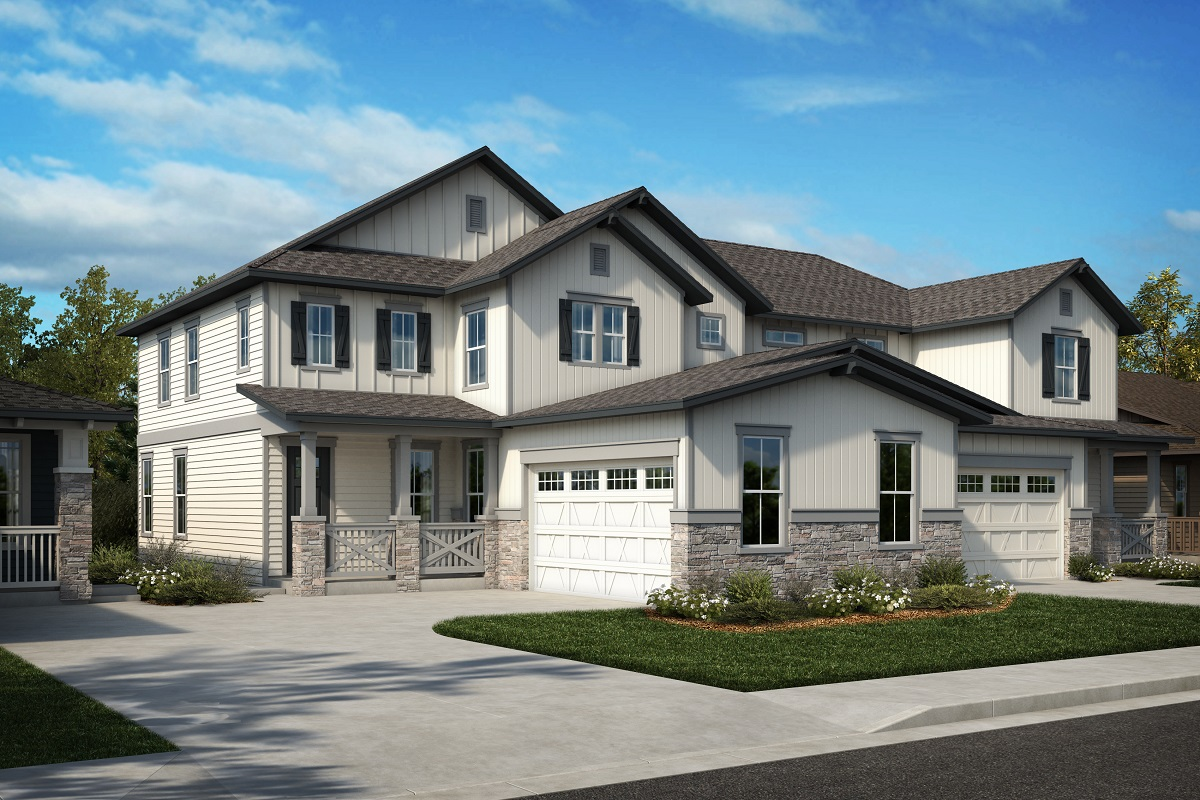 New Homes in Arvada, CO - Plan 2343 & Plan 1844 Elevation 27A