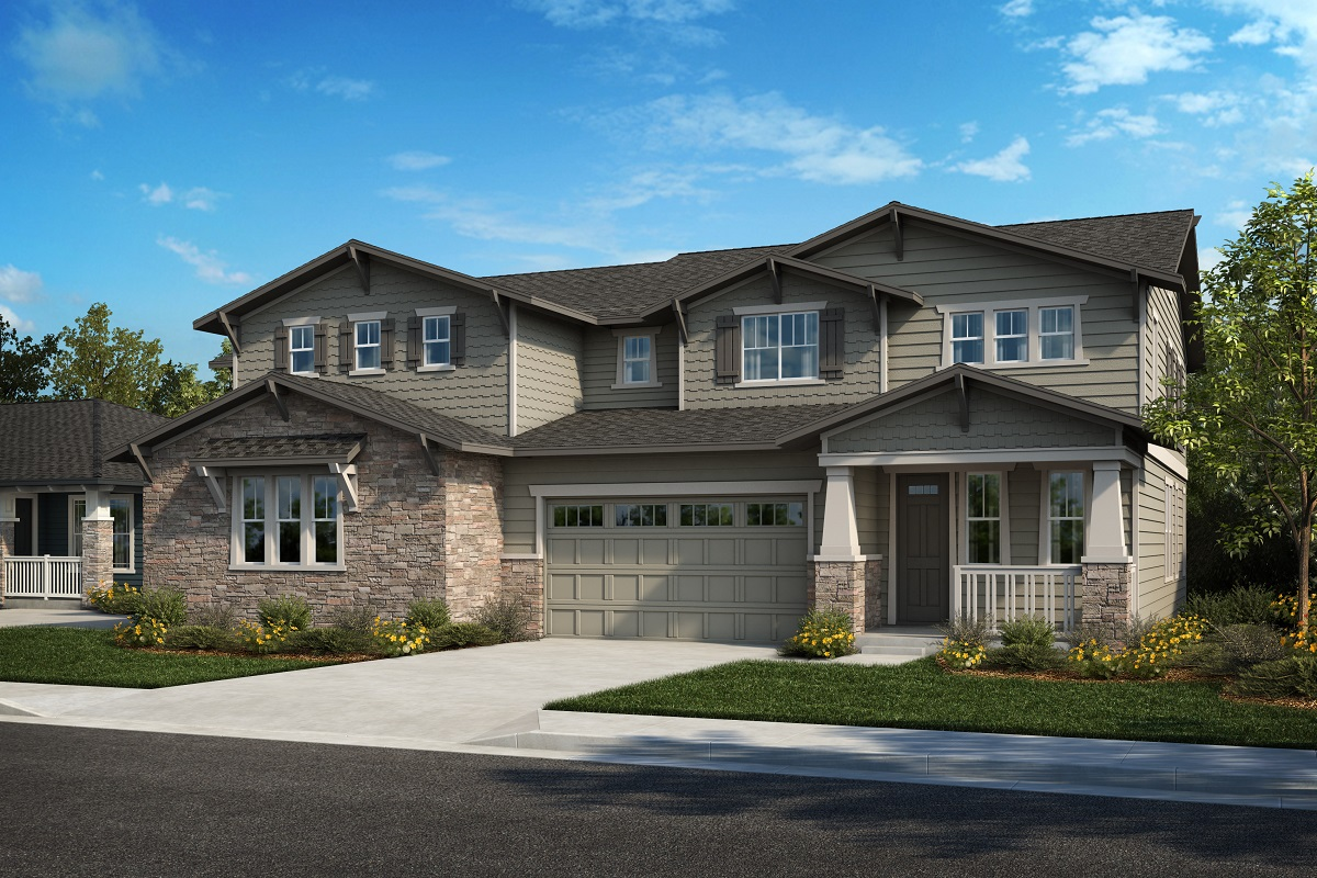 New Homes in Arvada, CO - Plan 2025 & Plan 2479 Elevation 30B