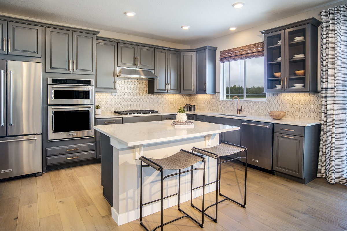 KB model home kitchen in Castle Pines, CO
