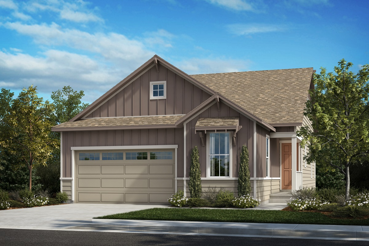 New Homes in Castle Pines, CO - The Canyons - Classic Collection Plan 1887 - Farmhouse Elevation