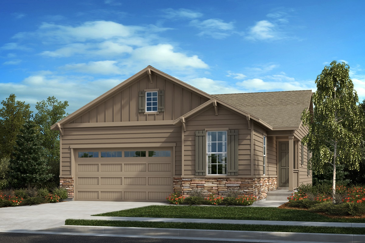New Homes in Castle Pines, CO - The Canyons - Classic Collection Plan 1887  - Modern Colorado Elevation