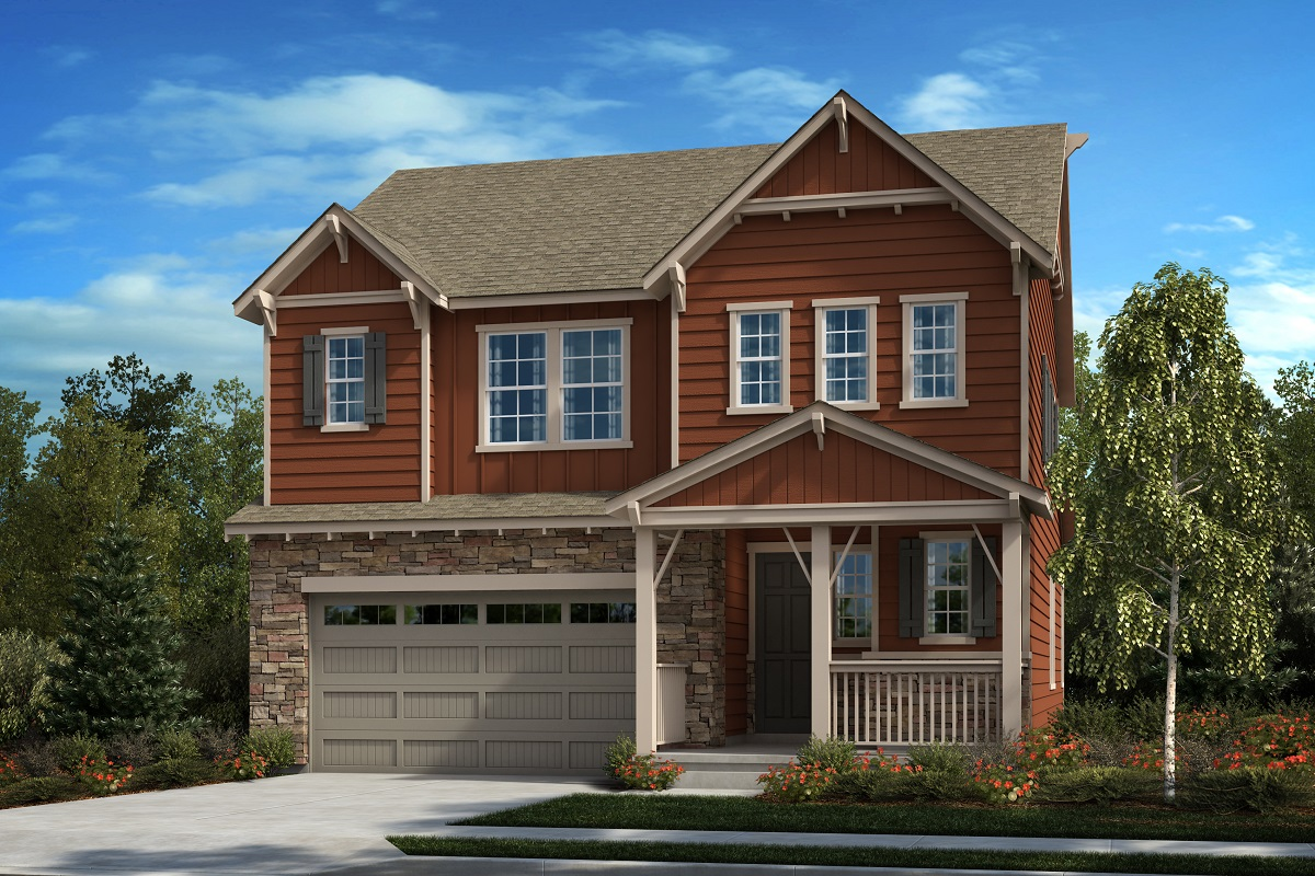 New Homes in Castle Pines, CO - The Canyons - Classic Collection Plan 2412 - Modern Elevation