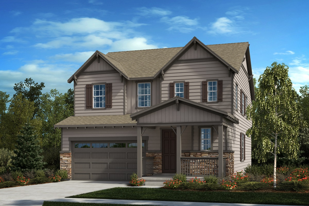 New Homes in Castle Pines, CO - The Canyons Sparkle - Modern Colorado Elevation