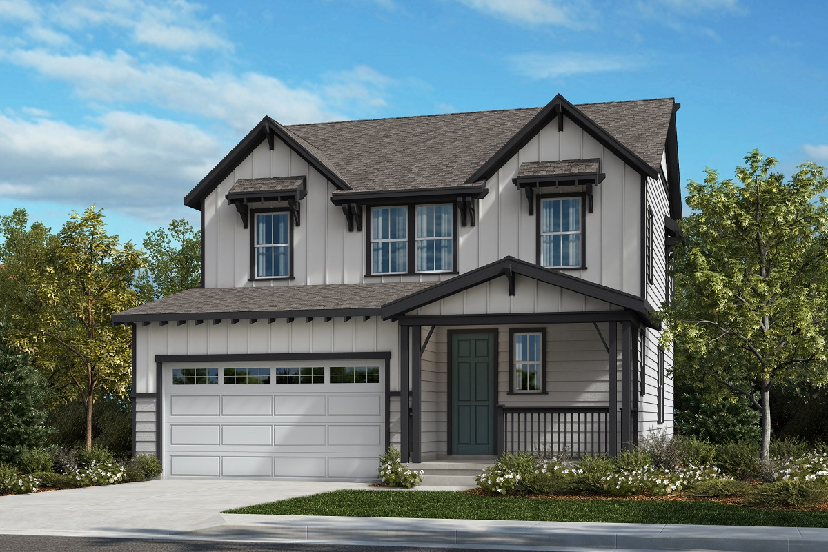 New Homes in Castle Pines, CO - The Canyons - Classic Collection Plan 2583 - Farmhouse Elevation