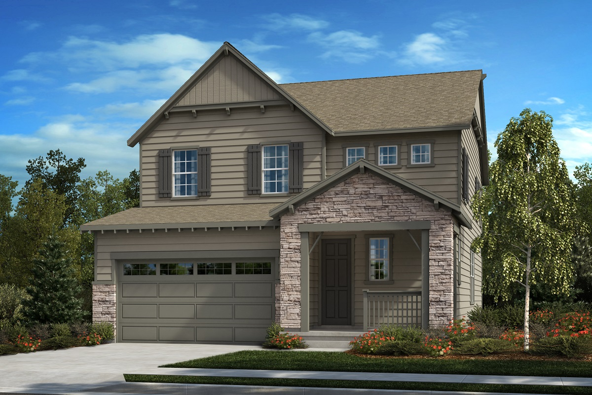 New Homes in Castle Pines, CO - Serendipity - Modern Colorado Elevation
