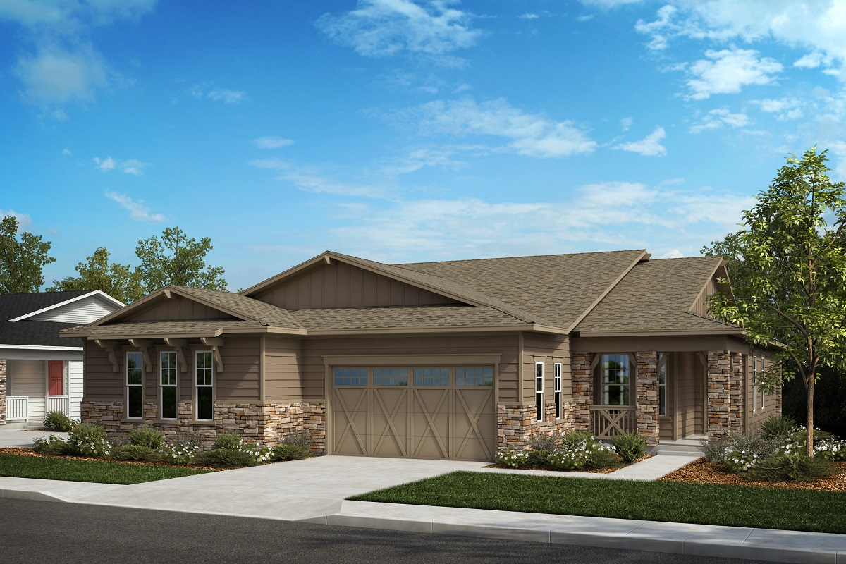 New Homes in Castle Pines, CO - Plan 1738 & Plan 1498 Elevation A