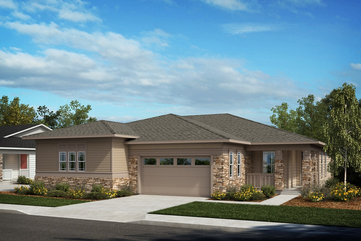 New Homes in Castle Pines, CO - Plan 1738 & Plan 1498 Elevation B
