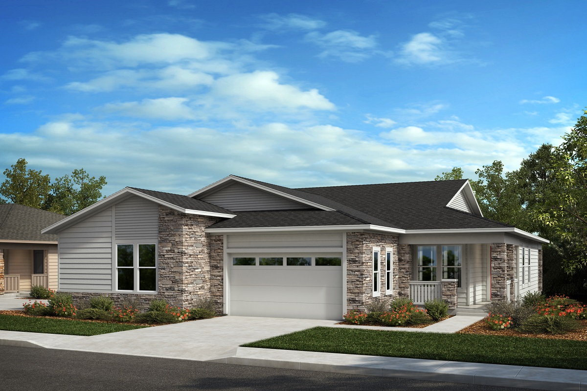 New Homes in Castle Pines, CO - Plan 1738 & Plan 1498 Elevation C