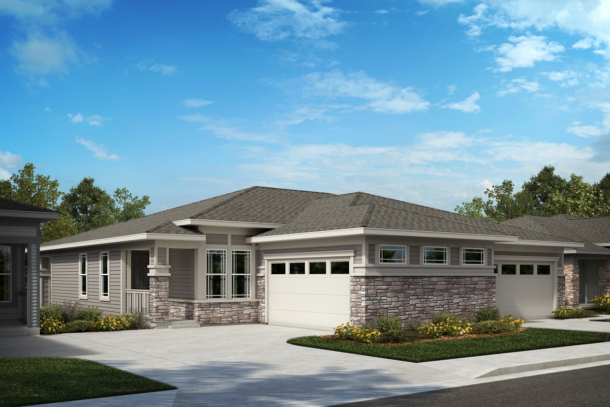 New Homes in Castle Pines, CO - The Canyons - Ranch Villa Collection Aura - Colorado Prairie