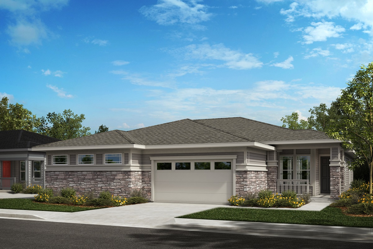 New Homes in Castle Pines, CO - The Canyons - Ranch Villa Collection Ambience - Modern Prairie