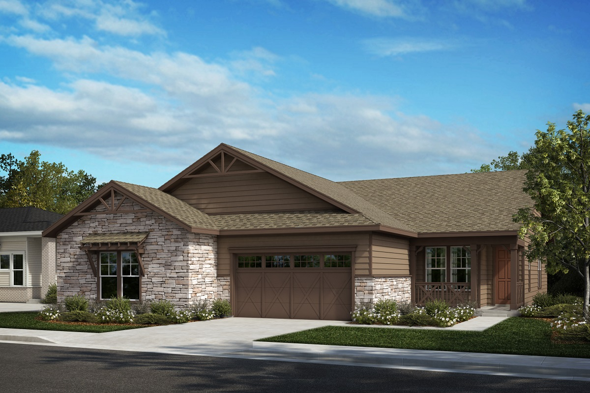 New Homes in Castle Pines, CO - The Canyons - Ranch Villa Collection Ambience - Colorado Ranch