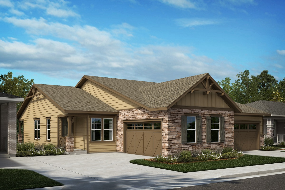 New Homes in Castle Pines, CO - The Canyons - Ranch Villa Collection Plan 1789 - Colorado Ranch