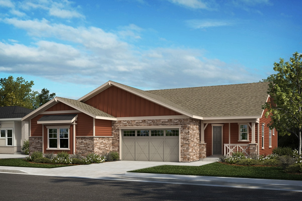 New Homes in Castle Pines, CO - The Canyons - Ranch Villa Collection Aura - Colorado Ranch